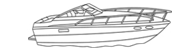 "Conventional Cabin Cruiser Boat Covers (Up to 24.5' Long and 102"" Wide)"