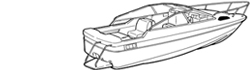 "Conventional Cuddy Cabin Boat Covers (Up to 24.5' Long and 102"" Wide)"