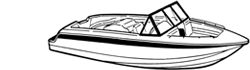 "Euro Ski Boat Covers (Up to 18.5' Long and 96"" Wide)"