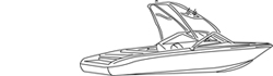 "Euro Ski Boat w/ Tower Boat Covers (Up to 21.5' Long and 96"" Wide)"
