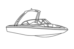 Euro Ski Boat With Sport Arch