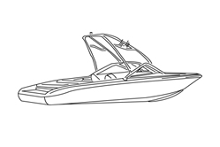 Euro Ski Boat With Tower