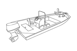 V-Shaped Jon Boat With Center Console