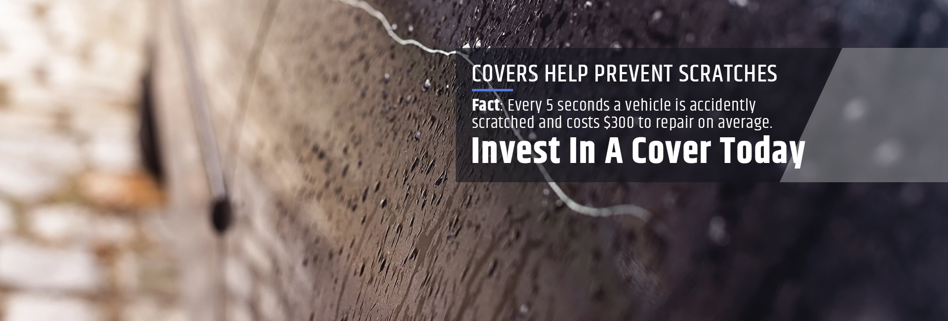 Covers help prevent scratches